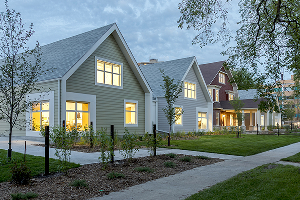 Building Blocks on Balmoral by Prairie Architects Inc. Photo: Lindsay Reid. A daycare designed to look like a row of houses.